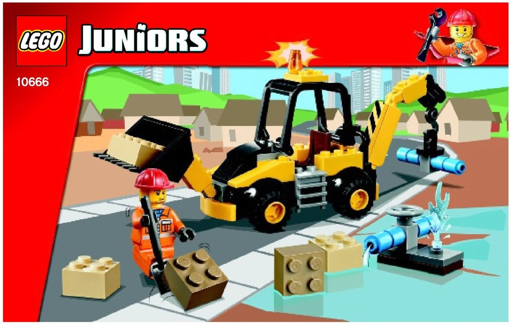 Lego junior valisette pompier