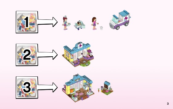 Lego junior vet clinic instructions
