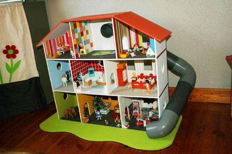 Maison playmobil meuble action - Construire une maison playmobil ...