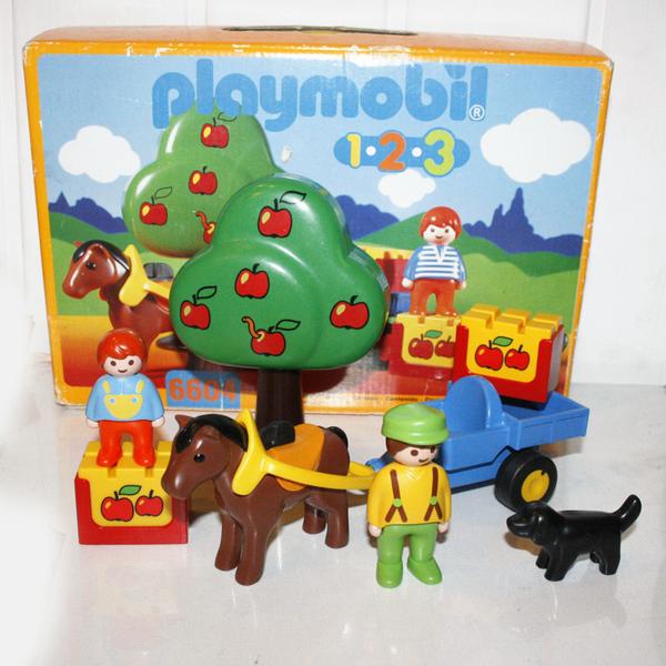 Playmobil 123 charrette animaux