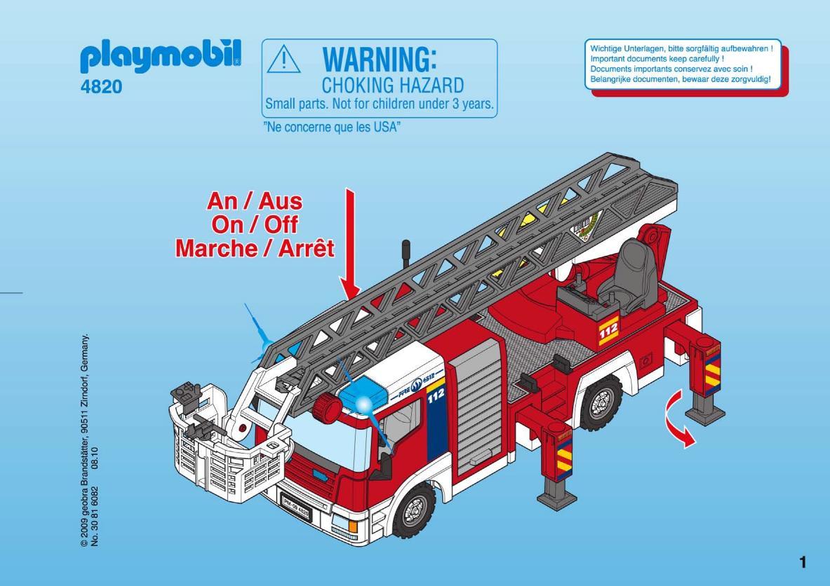 Grand playmobil pompier