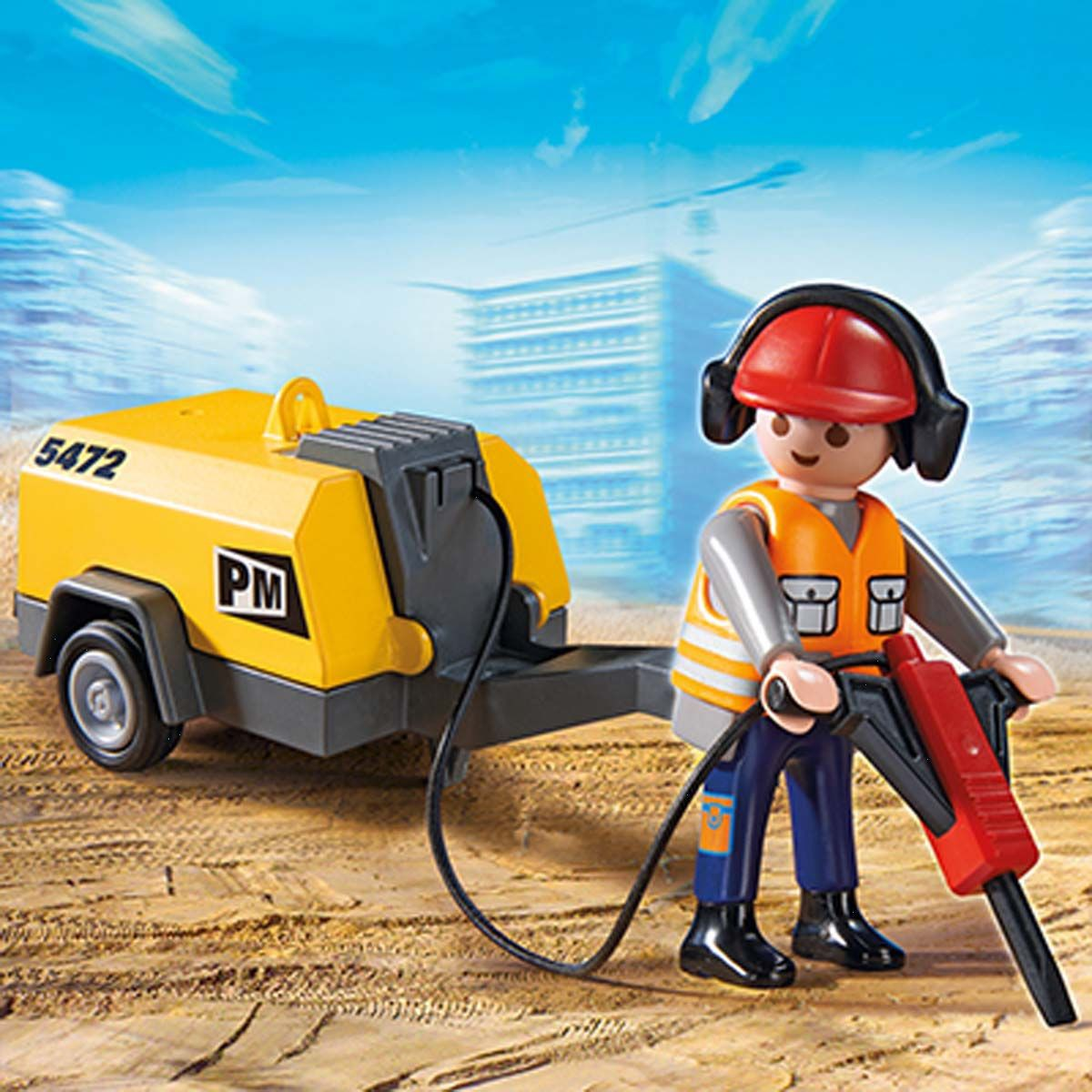 Playmobil ouvrier chantier