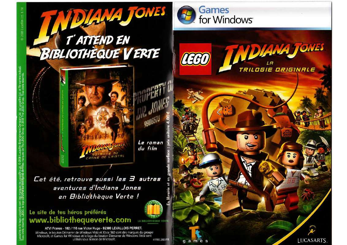Lego indiana jones jeu