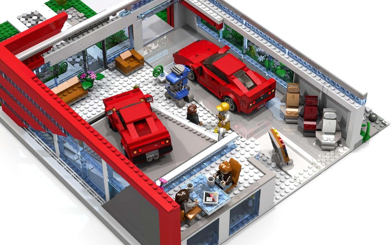 Lego ferrari station