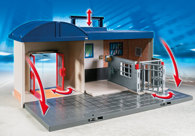Playmobil police commissariat transportable