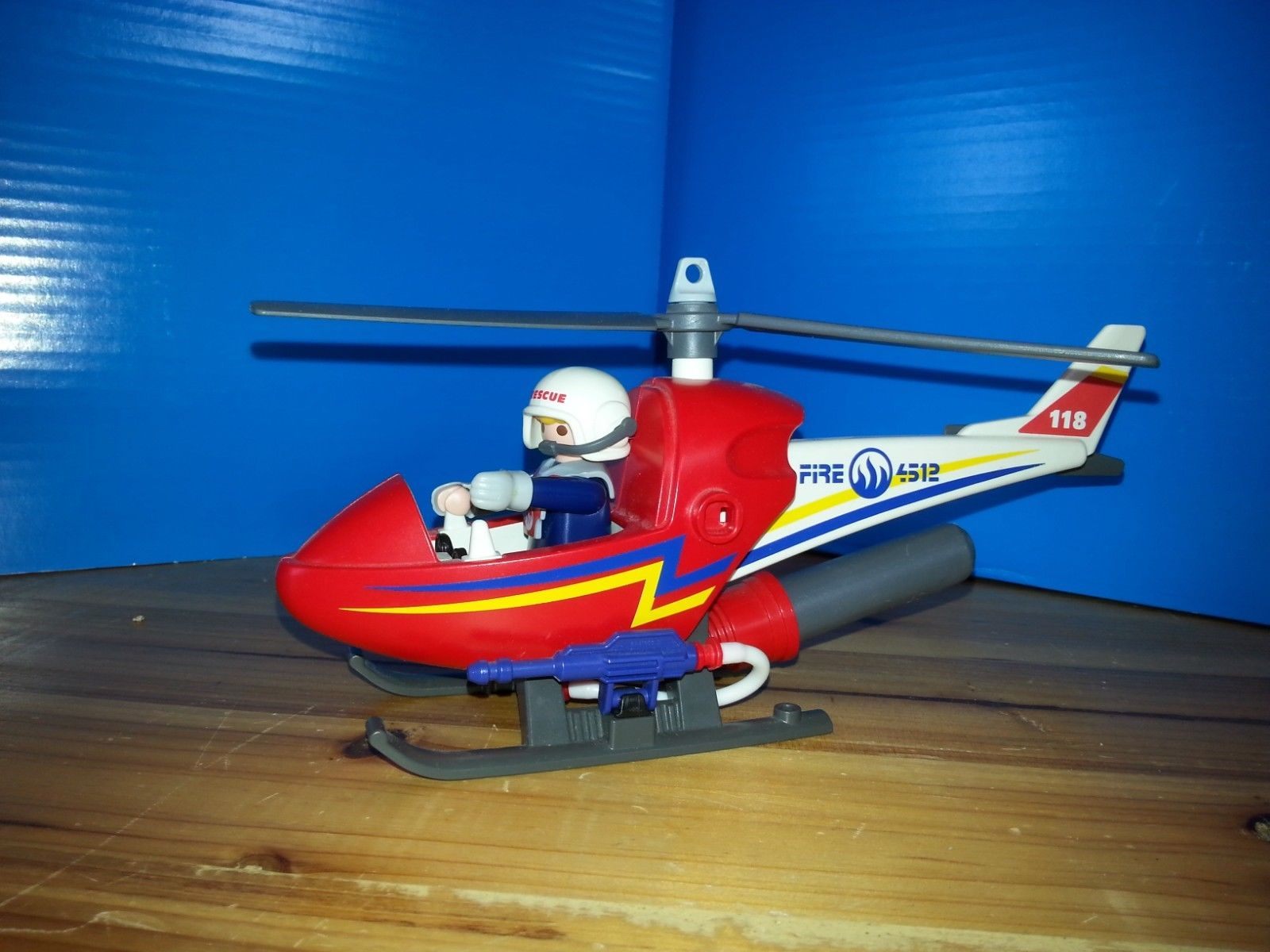 Playmobil helicoptere pompier 4824