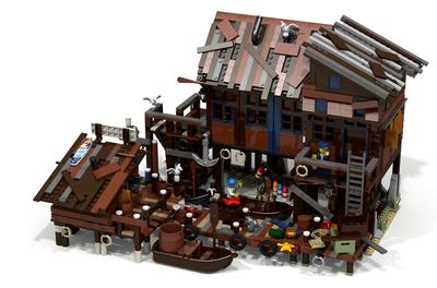 Lego ideas maison pecheur