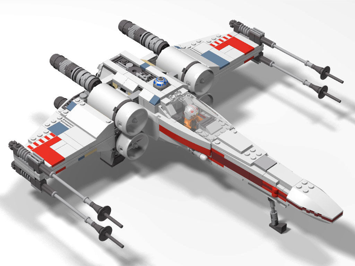Lego instructions for x-wing fighter 9493