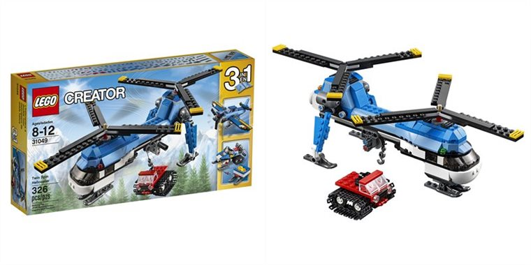 Helicoptere lego double rotor
