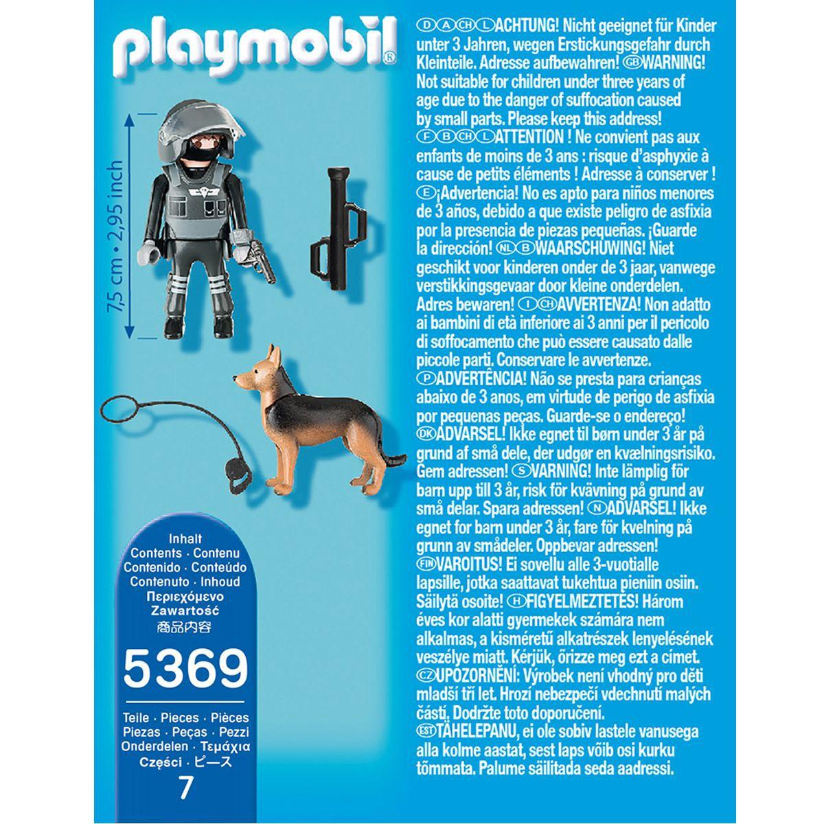 Playmobil policier avec chien
