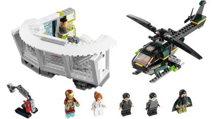 Lego marvel superheroes iron man 3 malibu mansion attack instructions