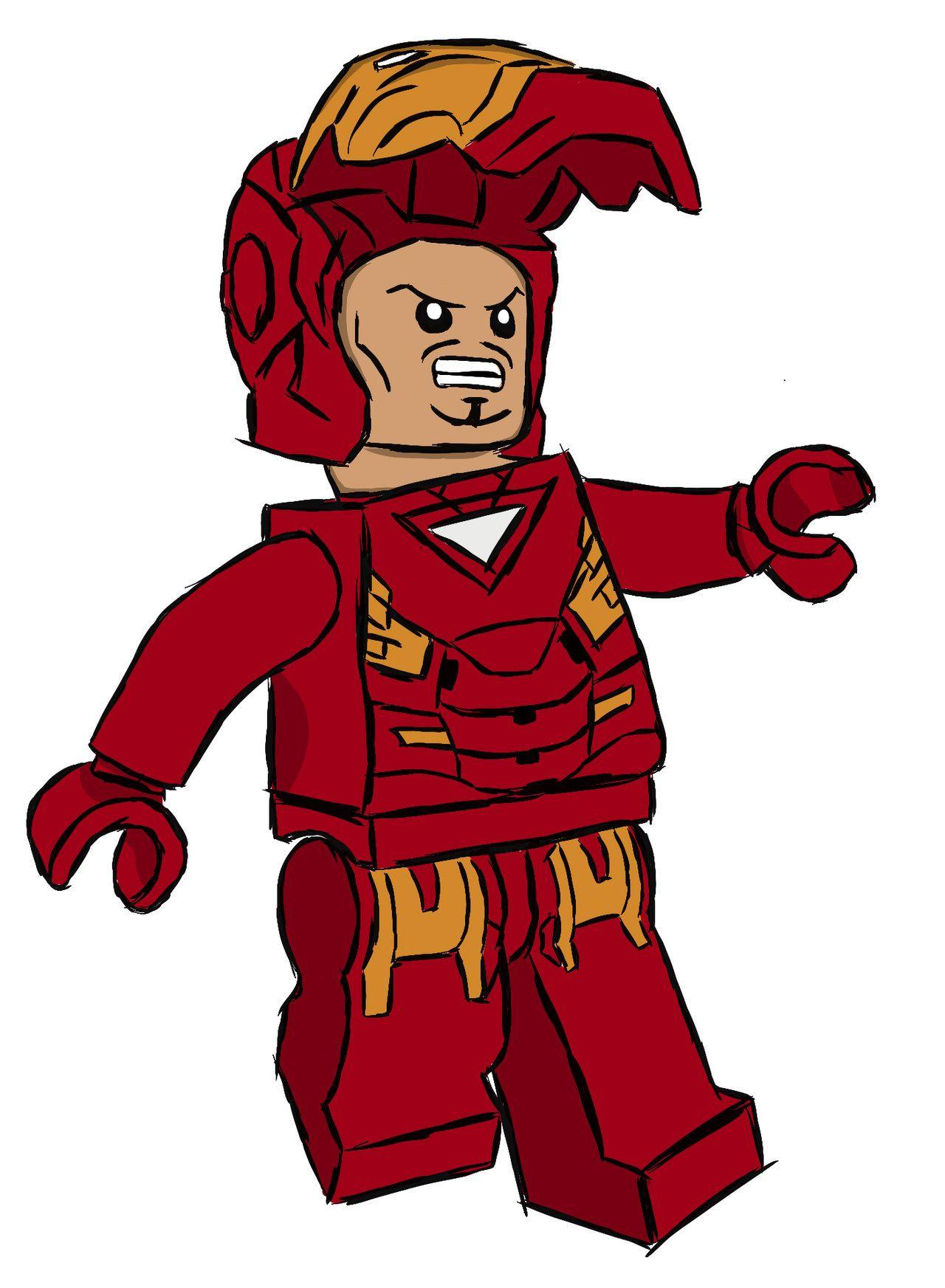 Lego iron man animation