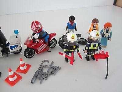 Playmobil pompier moto