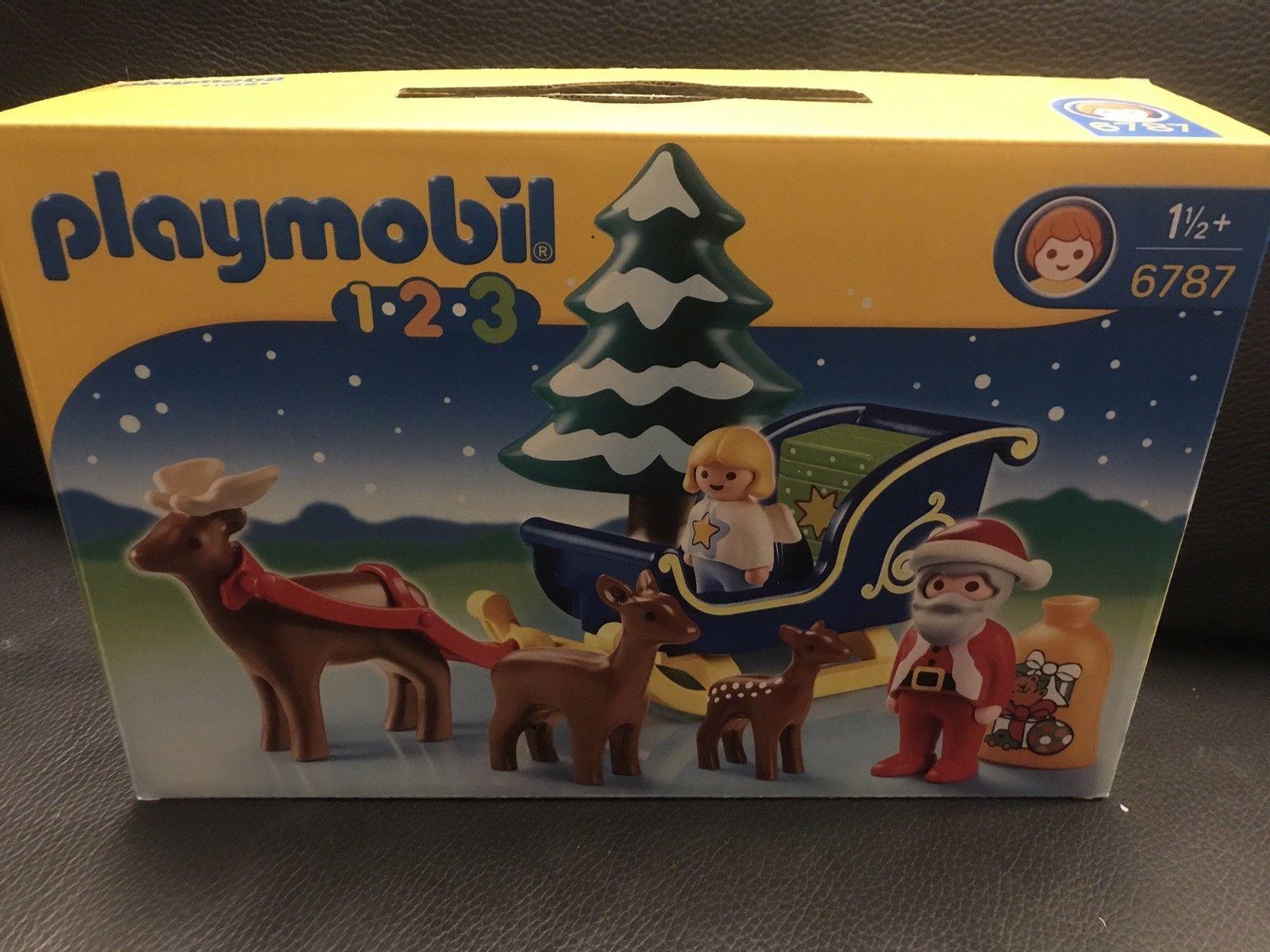 Playmobil 123 weihnachtsmann mit rentierschlitten