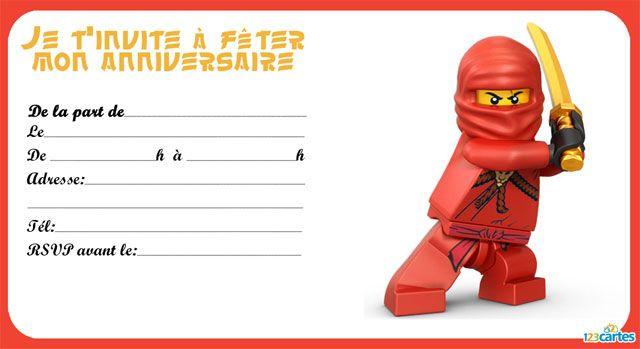 Invitation Anniversaire Garçon Lego Gratuite à Imprimer Zagafricafr