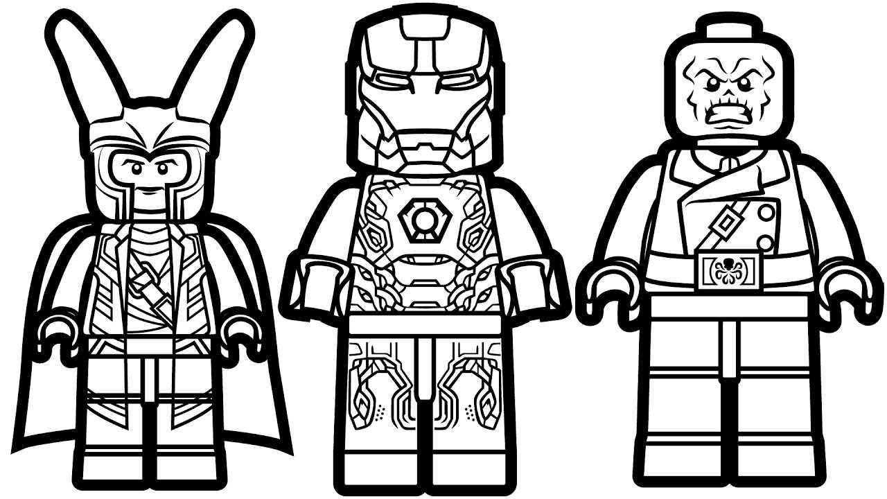 Lego iron man printables