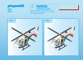 Playmobil police helicopter with led searchlight 6921