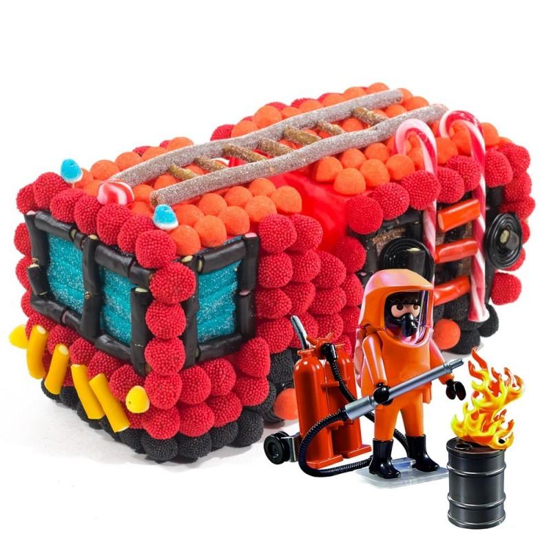 Gateau playmobil pompier