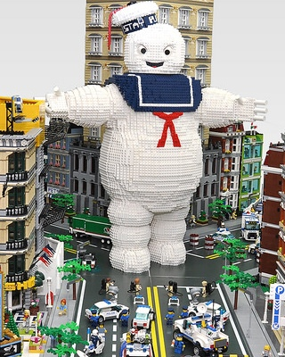 Lego ghostbusters marshmallow