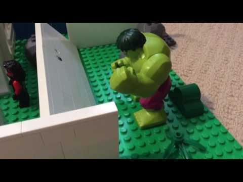 Lego hulk transformation stop motion
