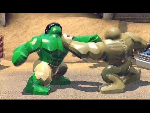 Lego hulk fight