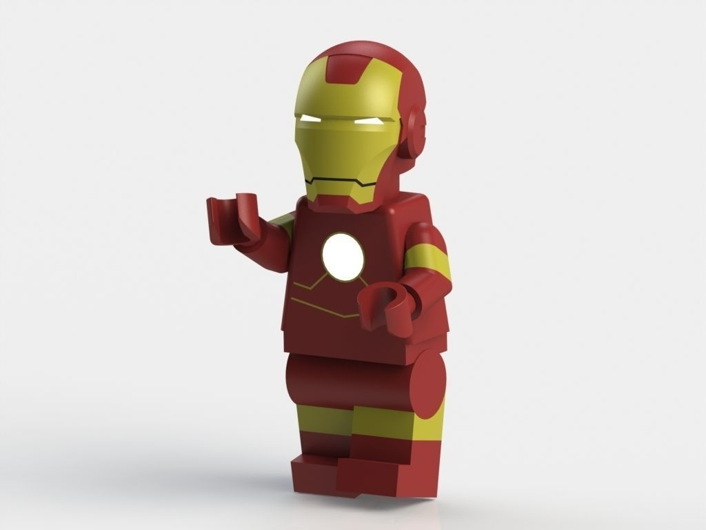 3d printed lego iron man