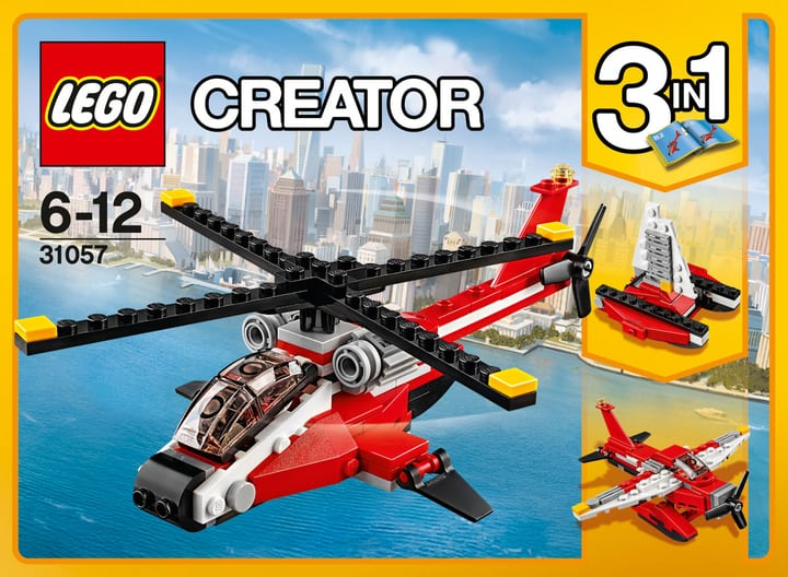Lego creator helicoptere rouge