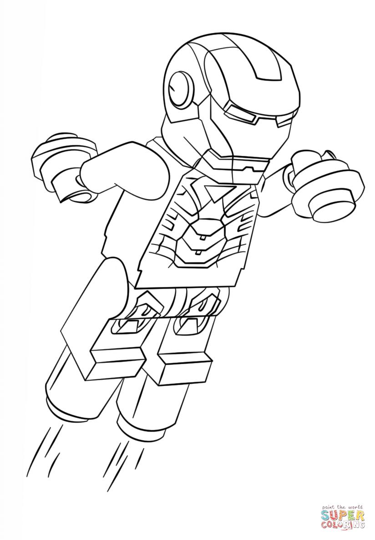 Coloriage lego iron man 3
