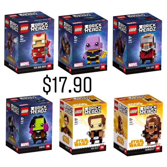 Lego infinity war brickheadz
