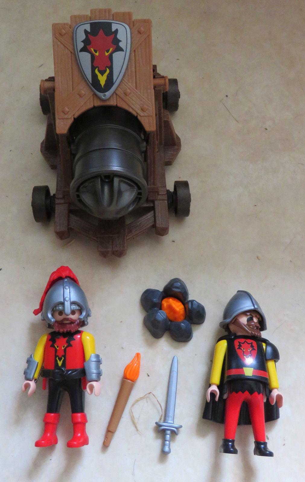 Playmobil canon dragon rouge