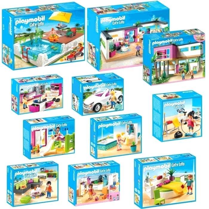 Maison moderne playmobil avec accessoires - zagafrica.fr