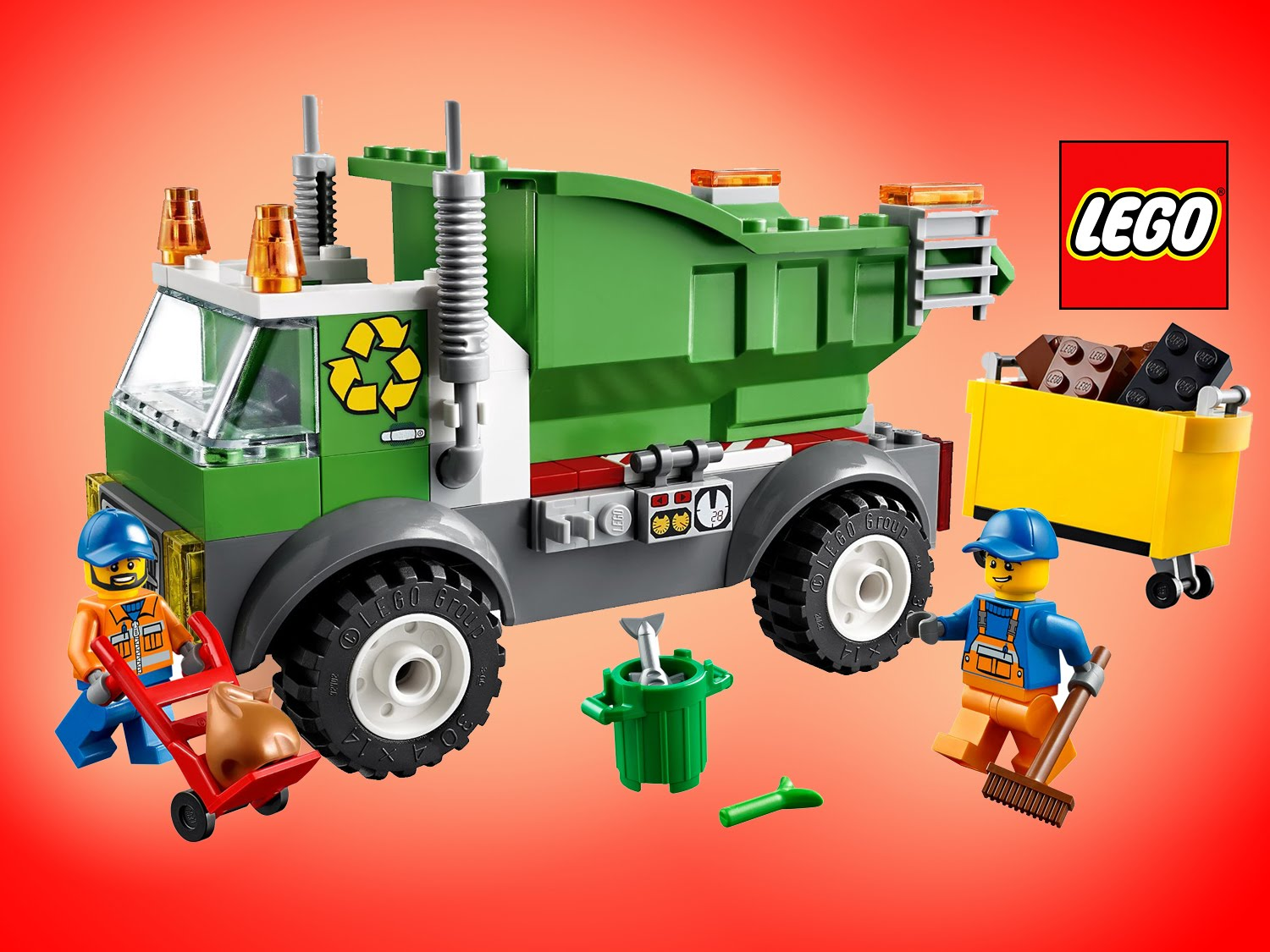 Lego junior trash truck