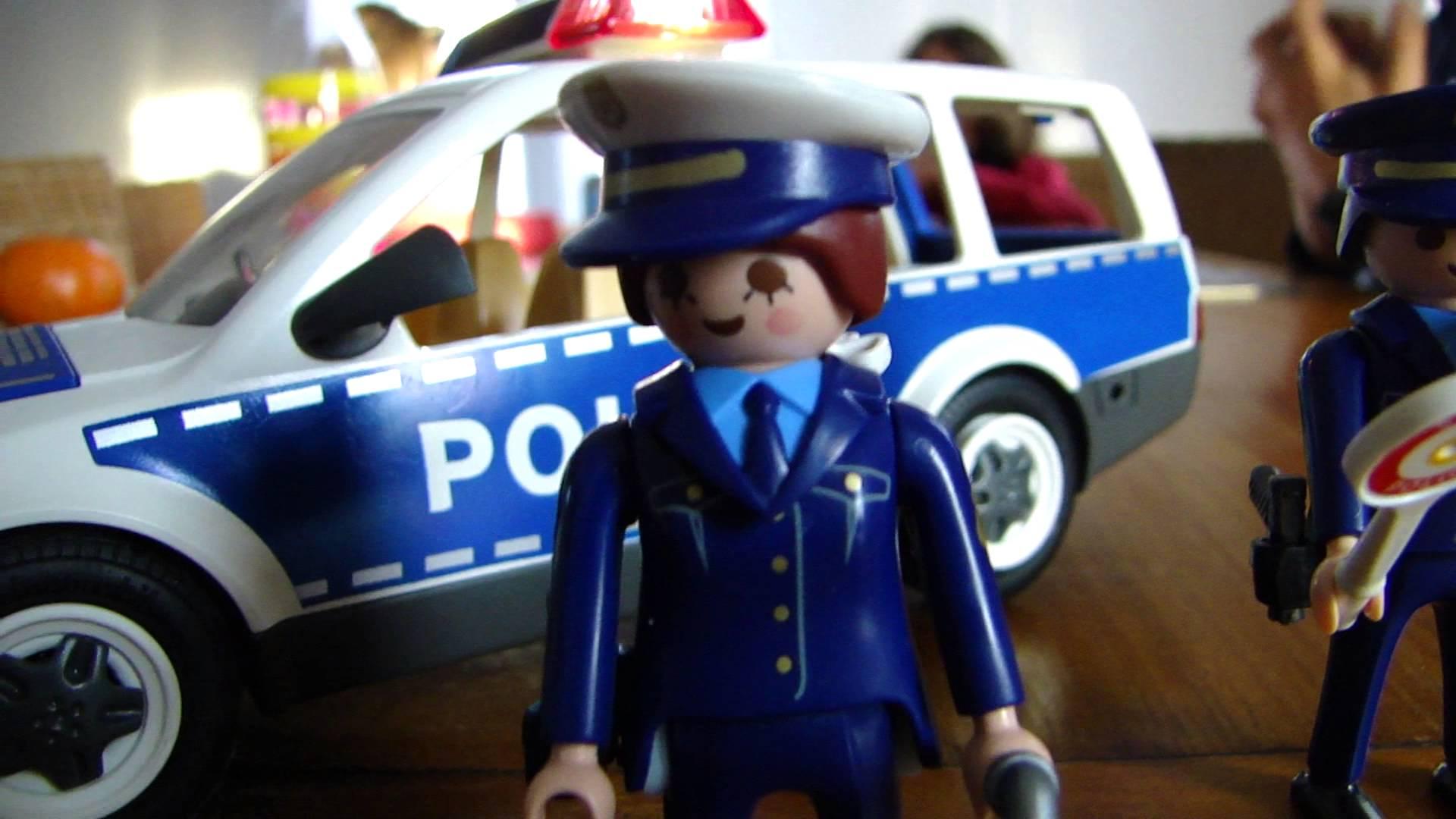 Playmobil policier noir