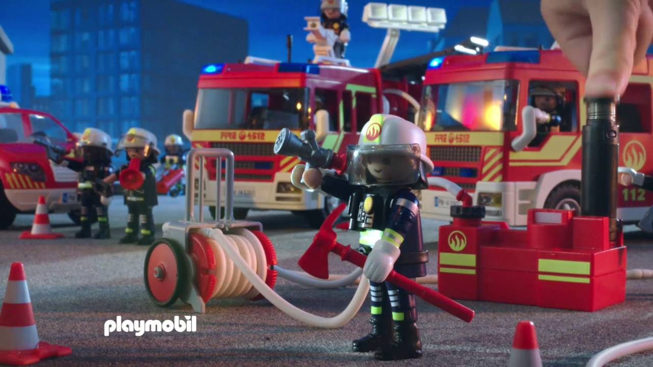 Playmobil pompier sauveteur bateau