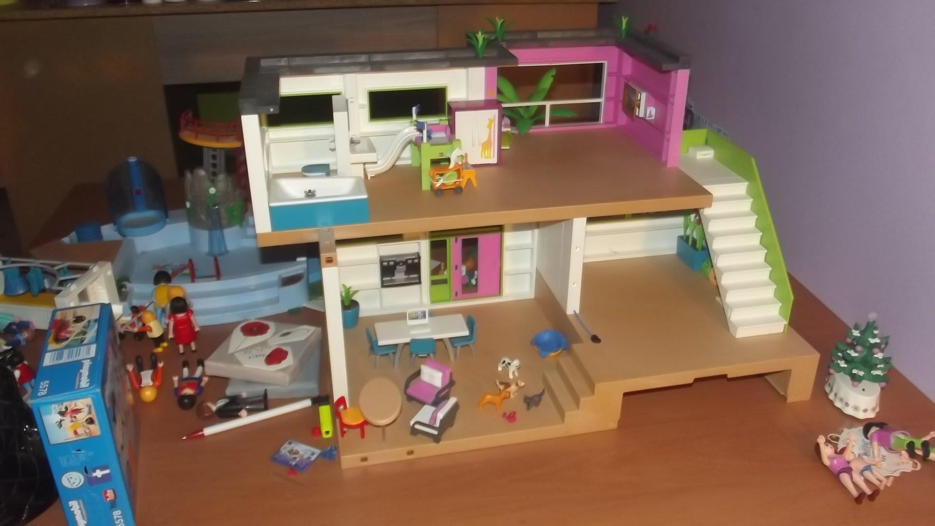 Playmobil maison moderne complete - zagafrica.fr