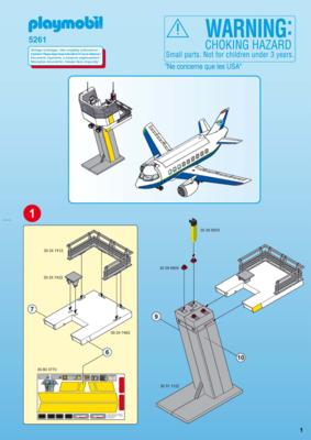 Playmobil avion et tour de controle