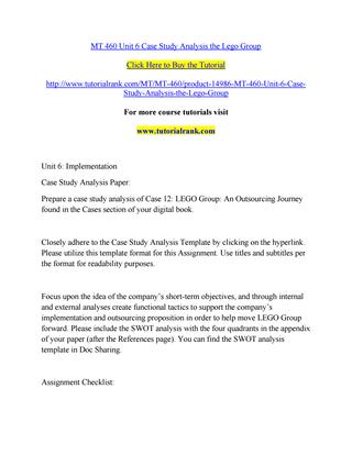 Lego group case study analysis
