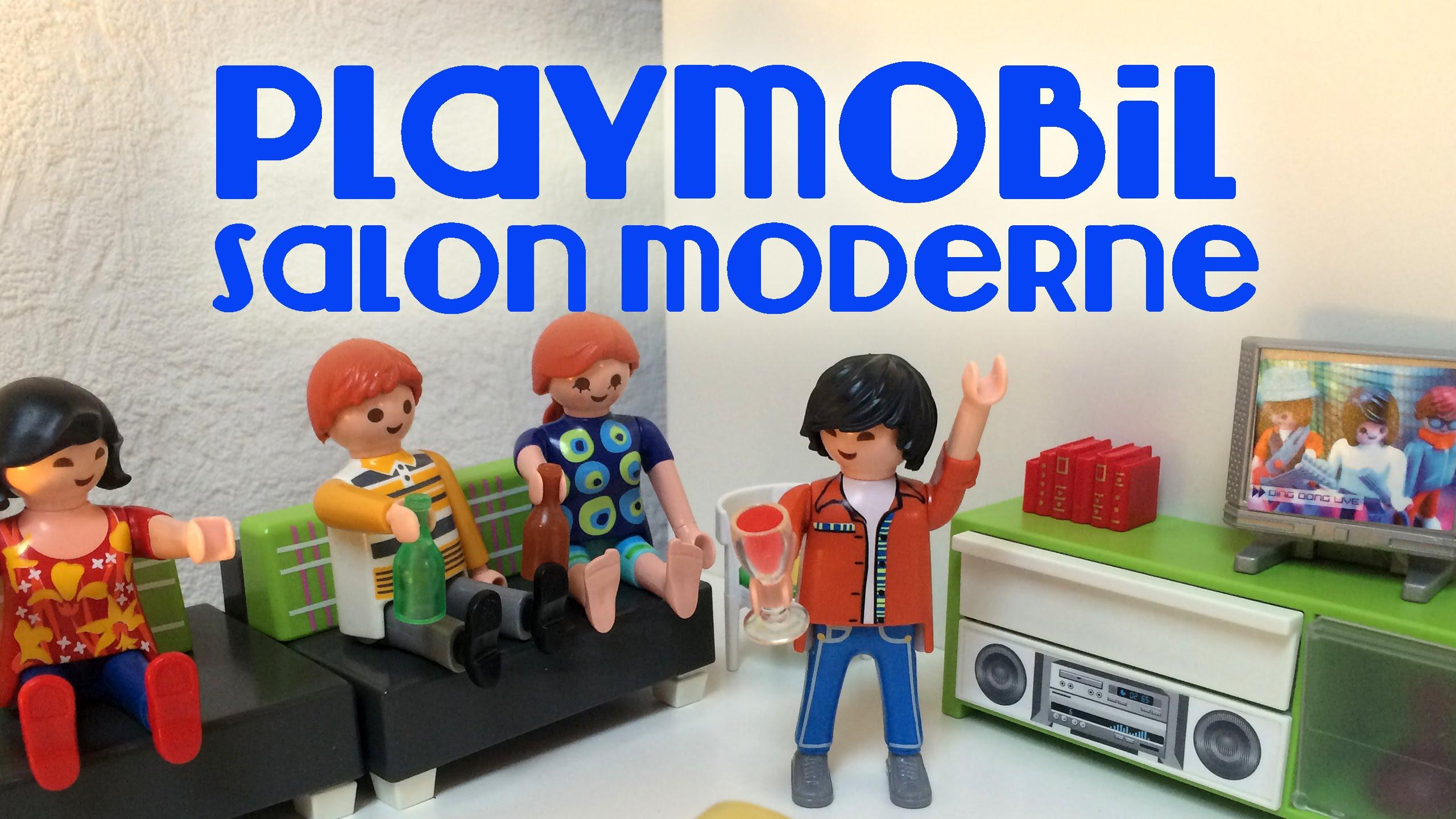 Playmobil maison moderne salon - zagafrica.fr