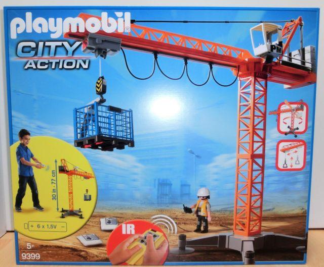Playmobil city action - großer baukran mit ir-fernsteuerung - 5466