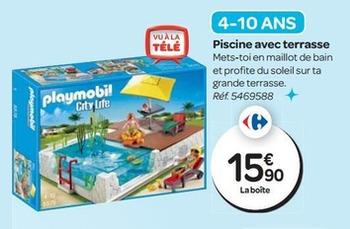 Playmobil piscine avec terrasse prix