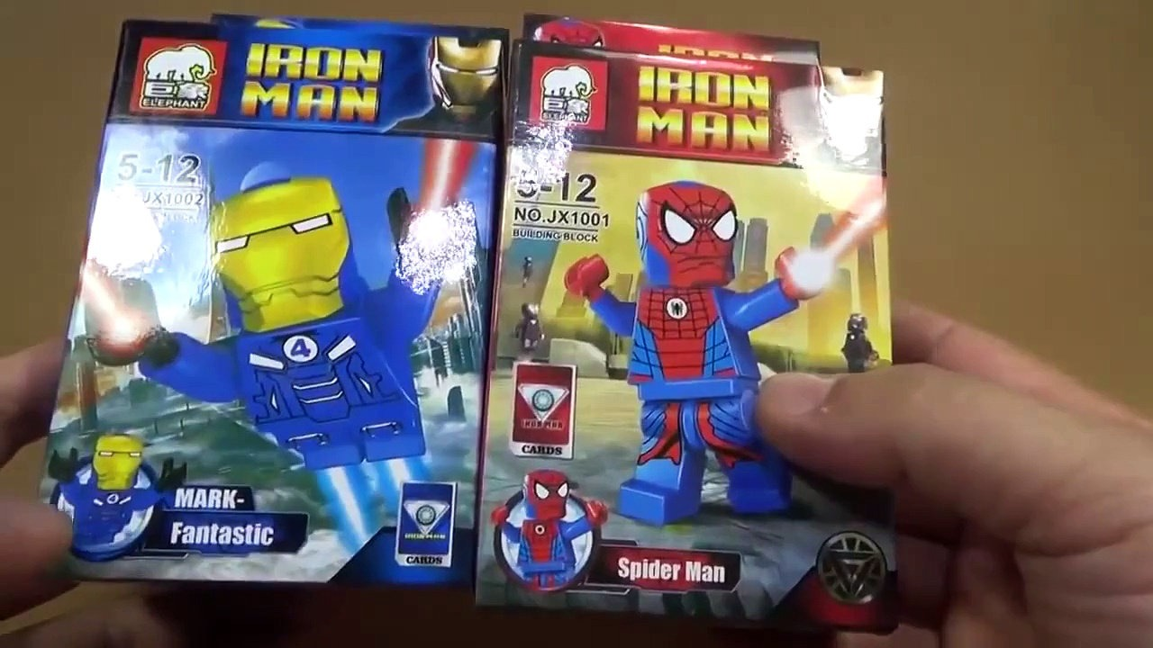 Lego iron man and spiderman