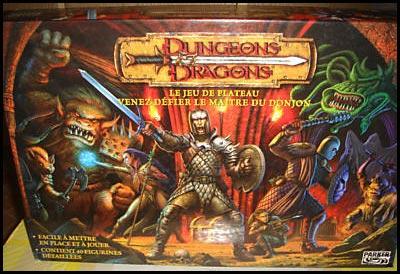 Donjon et dragon jeux de societe