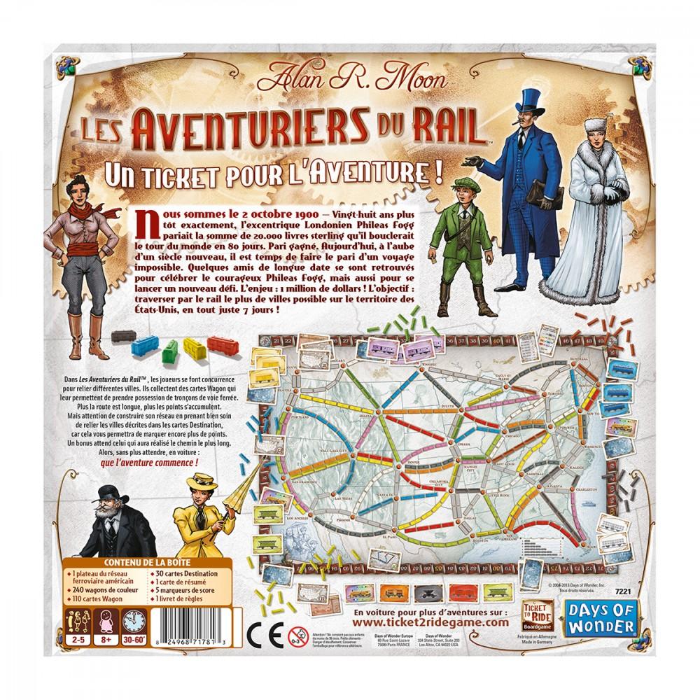 Jeux de société les aventuriers du rail